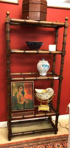 Bamboo Style Wood Etegere