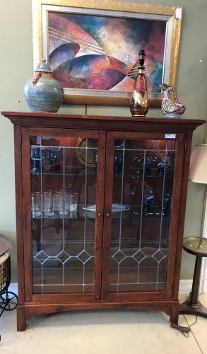 Cherry Display Cabinet