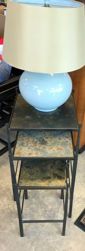 Iron And Slate Nesting Table Set