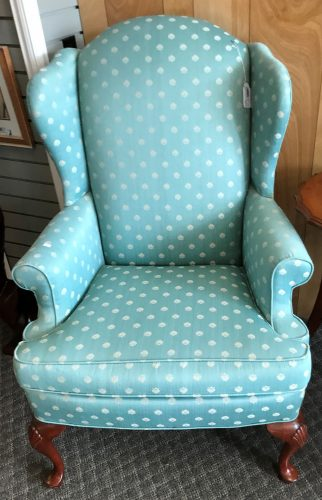 2-Re Upholstered Wing Back Arm Chairs   Sold Separate
