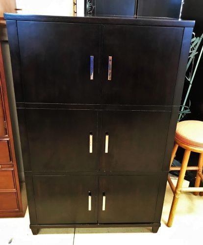 Mitchell Gold And Bob Williams Black Storage Cabinet