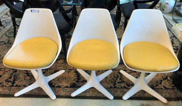 Set Of 3 Mid Century Modern Tulip Chairs