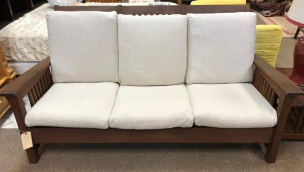 "4 Piece Vintage ""Wood Classics"" Teak Sofa-Chair-Ottoman and Accent Table Set"