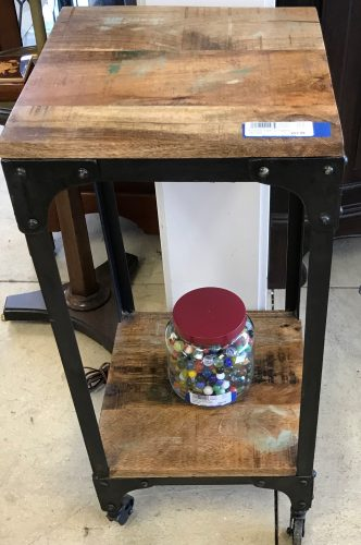 Recycled Table On Castor Wheels