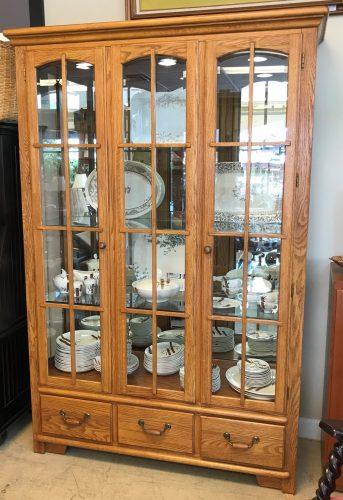 Double Curio Cabinet