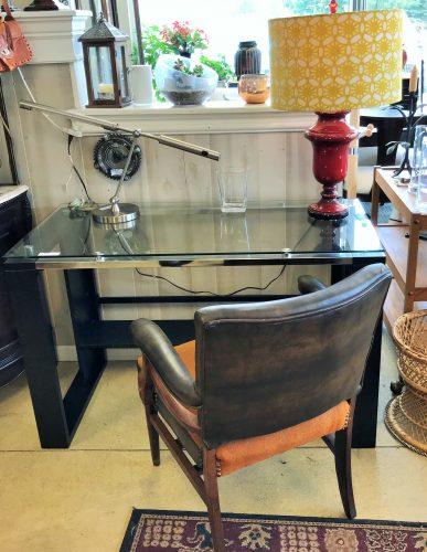 Contemporary Glass Top Desk