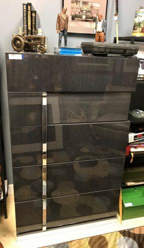 Alf Italia Koto Grey High Gloss Tall Dresser