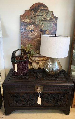 Antique Heavily Carved Asian Chest