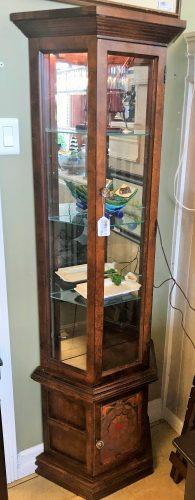 Vintage Lighted Curio Cabinet