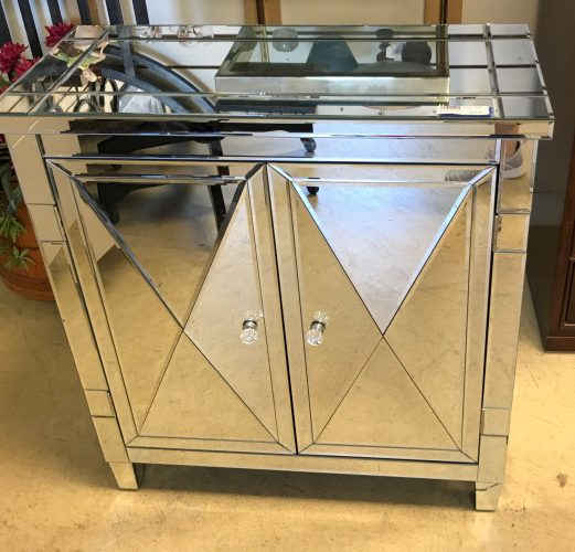 Mirrored Chest Cabinet