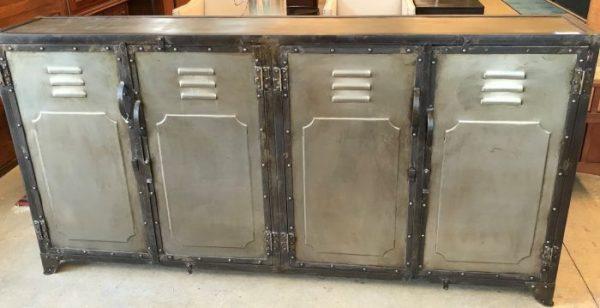 4 Door Industrial Style Console Cabinet