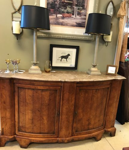 Vintage Marble And Wood Buffet