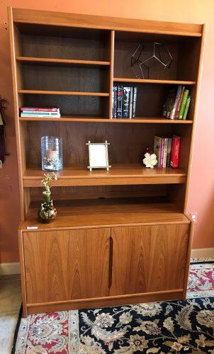 Mid Century Modern Danish Teak Display Cabinet