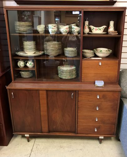Keller Mid Century Walnut Hutch Cabinet