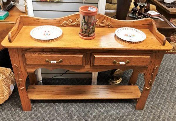 Amish Oak Sofa Table