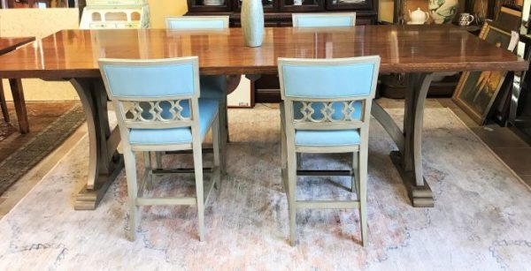 Bittners Custom Dining Room Table With 4 Counter Bar Stools