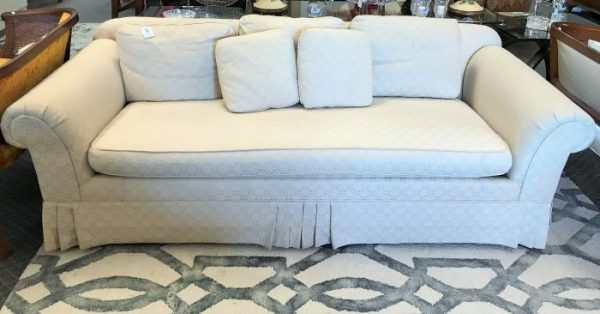 Beachley Raw Silk Sofa Couch With Pillows