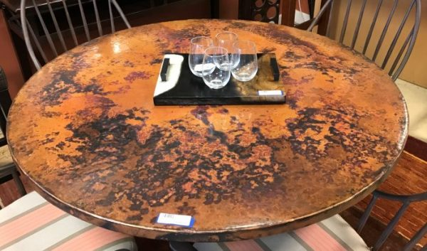 Arhaus Copper Dining Table