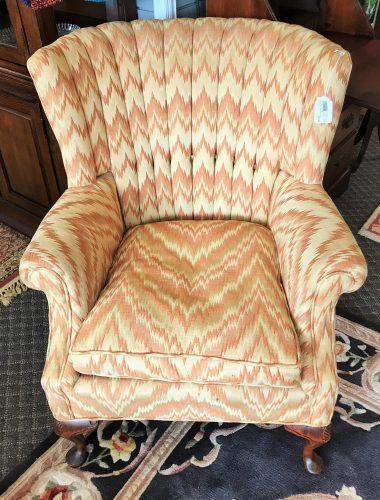 Vintage Custom Wing Back Chair