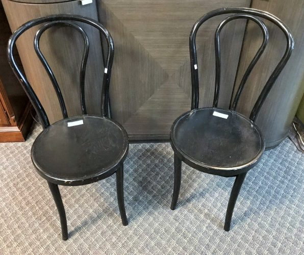 6-Vintage Black Bentwood Chairs Sold Separate