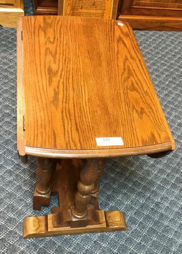 Oak Drop Leaf Accent Table
