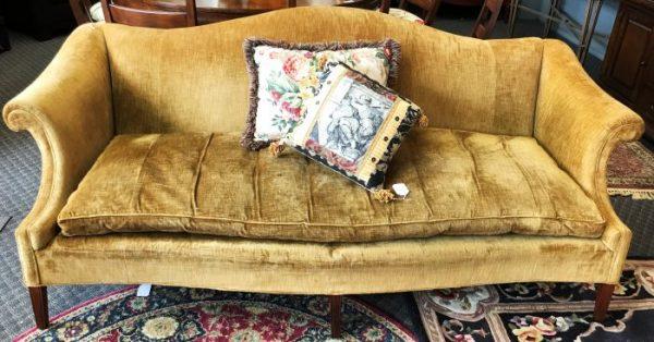 Vintage Custom Crushed Velvet Sofa Couch