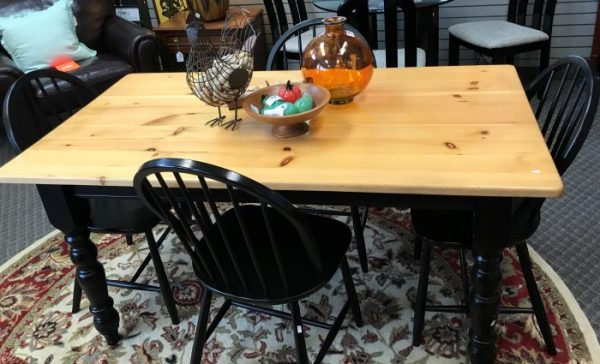 Two Tone Table And Chairs