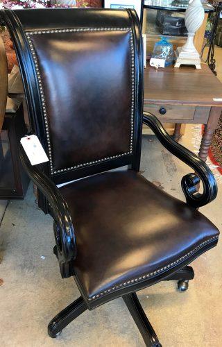 Hooker Furniture Co. Tilt Swivel Leather -Hobnail Office Chair