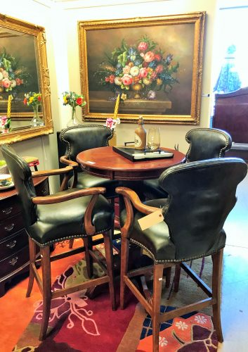 Pub Table SOLD SEPARATE ~ Set/4 Century Furniture Barstools SOLD SEPARATE